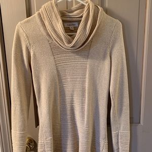 Calvin Klein Cowl Holiday Sweater long Sleeve XS
